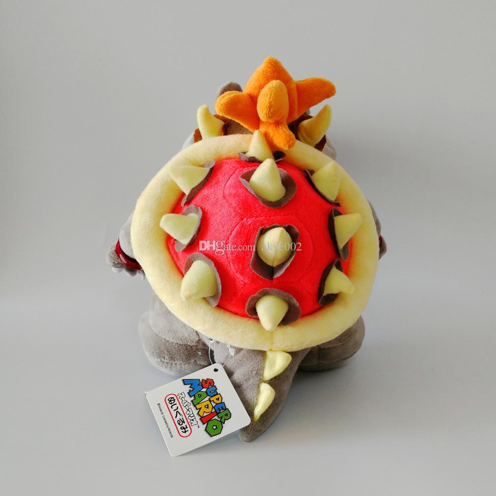 "Hot Sale 9.8"" 25cm Super Mario Bowser Koopa & Gray Bones Bowser Koopa Plush Toy Stuffed Animals Soft Dolls Children Gift"