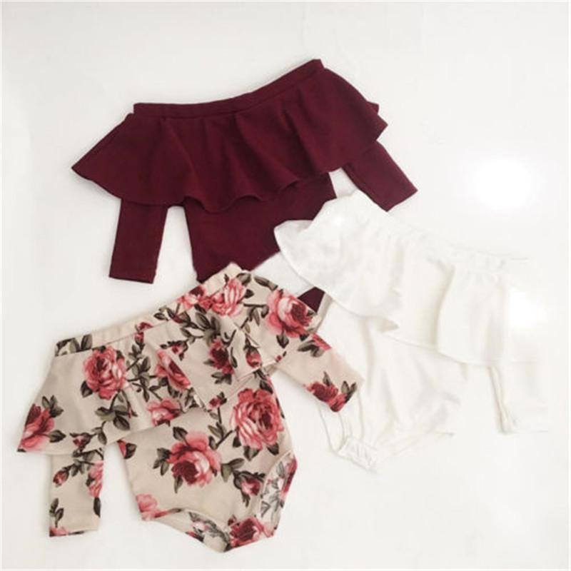 d34aa9176fa 2019 4 Style Vintage Newborn Baby Girls Off Shoulder Long Sleeve Romper  Jumpsuit Autumn Spring Children Kids Outfit Clothes Playsuit From Namenew