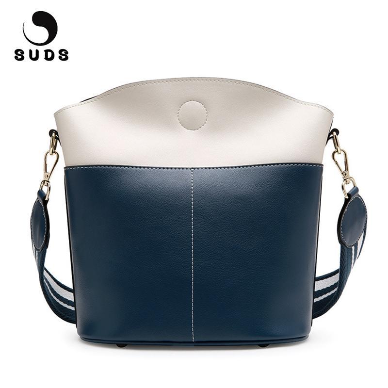 SUDS Brand Women Bag Genuine Leather Bucket Shoulder Bags Female Designer  High Quality Traveling Crossbody Bags Bolsa Feminina Bolsa Feminina Brand  ... 464b46bff6