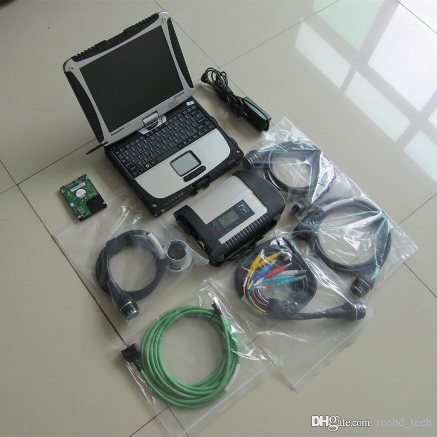 MB Star SD Connect C4 Диагностика инструмента HDD 320 ГБ полный набор с помощью ноутбука CF19 сенсорный экран готов к использованию