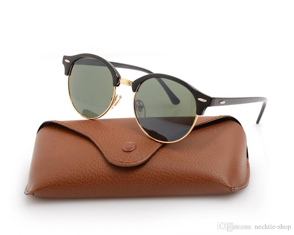 Yeni UV400 koruma güneş gözlüğü Yüksek kalite Unisex gözlük Erkek gözlük Klasik kadının güneş gözlüğü 4246 Durumda ve ...