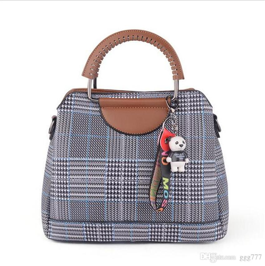 Fashion Women s Bag PU Leather Ladies Commuter Handbag 2018 Soft Surface  Check Bag 2018 New Hand Bag Handbag Tote Bag Commuter Handbag Online with  ... e302fc5ac8fcf
