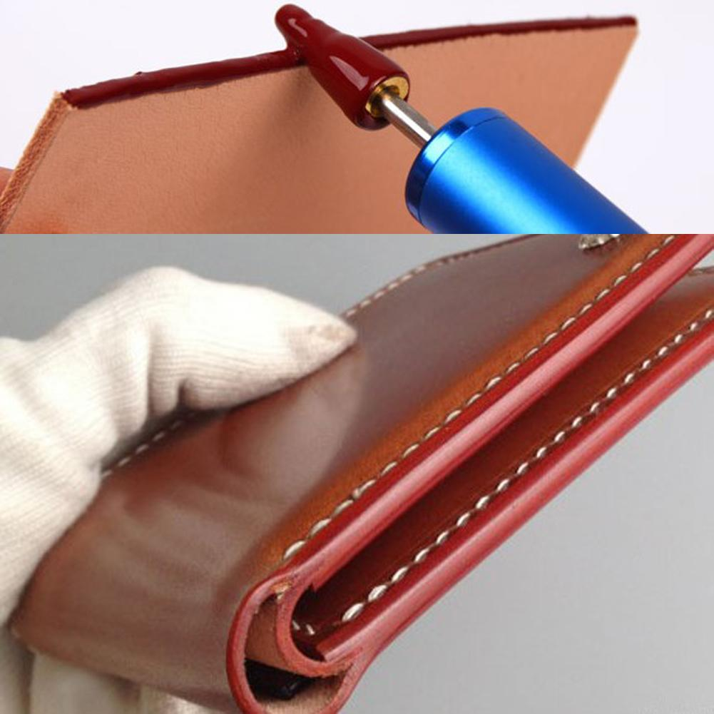 DIY Brass Head Leather Edge Oil Pen Top Pro Edge Dye Pen Applicator Speedy Edge Paint Roller Tool For Leather Craft 133*15*10mm