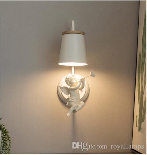 Camera da letto per bambini angelo Lampade da parete Applique Illuminazione  Angelo moderno Applique da parete Matrimonio Corridoio Applique da parete  ...
