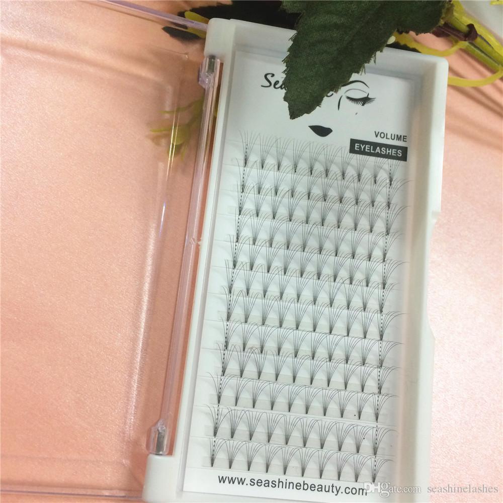 1 лоток короткий стебель 6D русский объем ресниц готовые вентиляторы 0.07/0.10 мм C D локон индивидуальные ресницы наращивание ресниц
