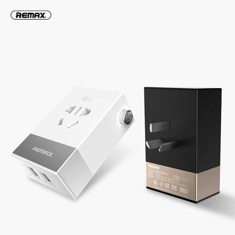 REMAX Smart Wifi Plug Power Socket Wireless App Remote Control 2 USB Ports Timer Switch Wall Plug Home Appliance Automation Intelligent Plug