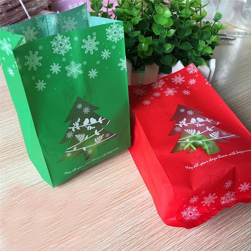 Großhandel 50 Stücke Frohe Weihnachten Kraftpapier Tasche Cookie ...