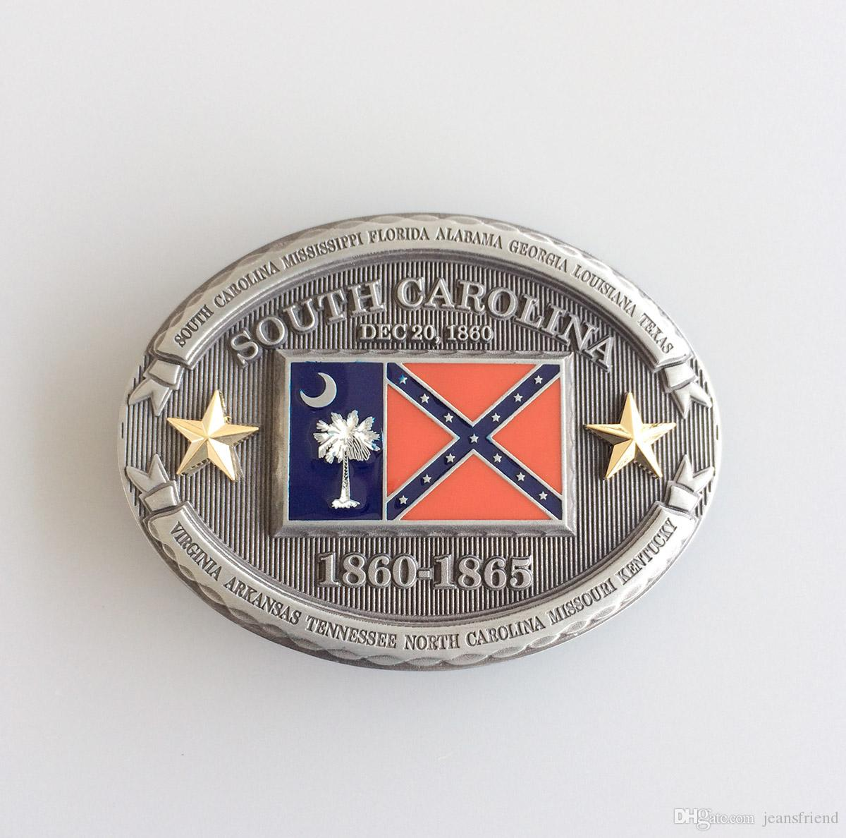 New Vintage Western Oval South Carolina Belt Buckle Gurtelschnalle Boucle  De Ceinture BUCKLE-FG016 Belt Buckle Rebel Confederate Online with   15.33 Piece on ... 1f04309a801