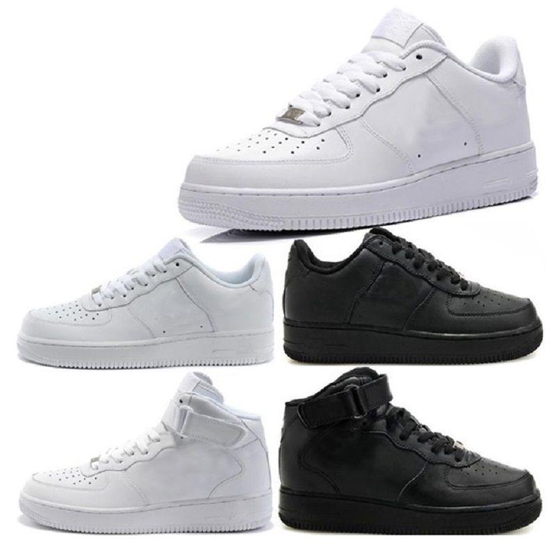 Nike Air Force Flyknit 1 One NEWest top qualité NOUVEAUX mans de la mode les chaussures blanches haut haut bas Les femmes noires aiment unisexes 1