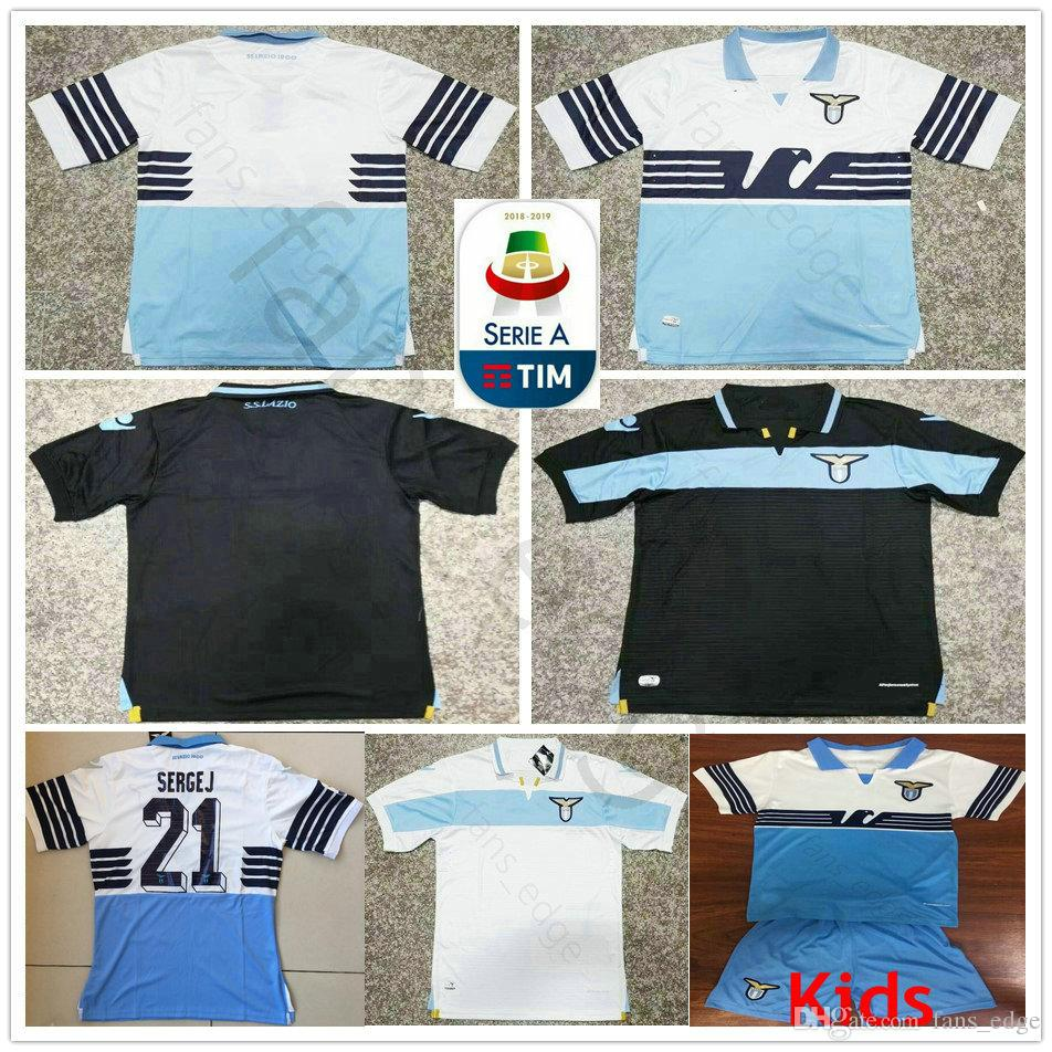 dbb2dab929c 2019 18 19 Lazio Soccer Jersey LUCAS F.ANDERSON IMMOBILE SERGEJ JEVIC LUIS  ALBERTO Custom Home Away Third 2018 2019 Adult Kids Football Shirt From  Fans_edge ...