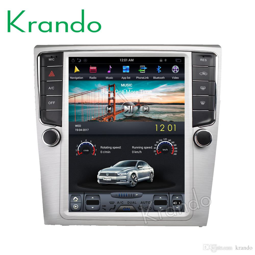 "Krando Android 7.1 10.4"" Tesla Vertical touch screen car dvd audio radio dvd for VW Volkswagen Magotan cc 2009-2015 navigation"