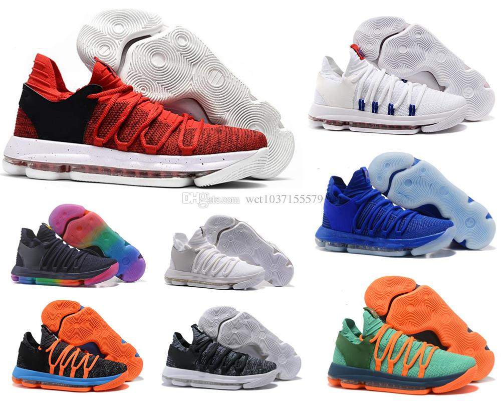 discount 4b011 0b60e Acheter Chaussures De Basket Ball Zoom KD 10 Anniversary University Red Kd  Igloo BETRUE Oreo Homme USA Kevin Durant Elite KD10 Sport Sneakers KDX De  $178.68 ...