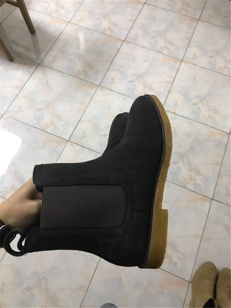 stivali Chelsea di alta qualità fatti a mano moda kanye west moda Chelsea yz in vera pelle scamosciata uomini stivali di lusso superiore