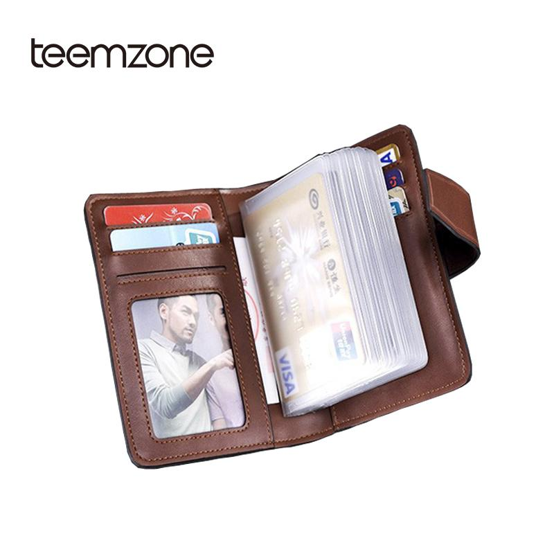 Teemzone Mens Genuine Leather Wallet Business & Id Holders Checkbook ...