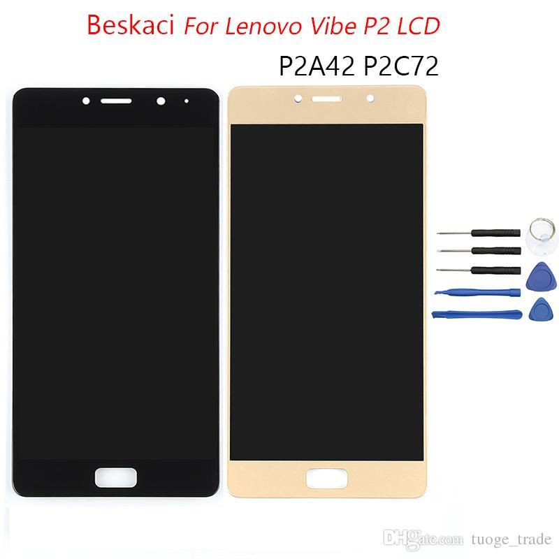 Ecran Lcd Ou Led Original 55 Oled Pour Lenovo Vibe P2 Tactile Avec Cadre P2c72 P2a42 Remplacement De Lecran