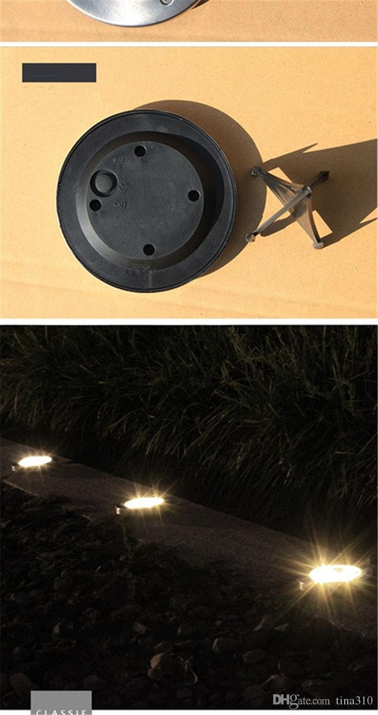 8 LED énergie solaire enterré lumière sous la lampe de sol chemin de la voie extérieure maison de jardin lampe de pelouse cour décoration T3I0151