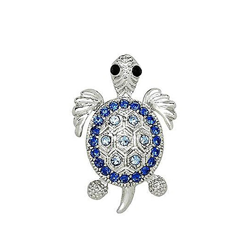 Fashion Necklace Accessories DIY Inspiration Spirit Crystal Sea Turtle Animal Pendant For Necklace Jewelry