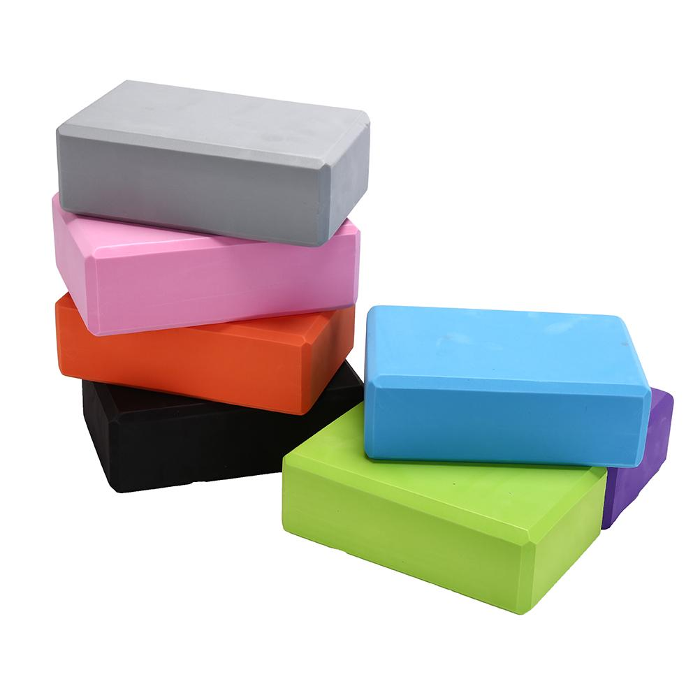 1PCS EVA Yoga Block Brick Pilates Sports Exercise Gym Foam Workout Stretching Aid Body Shaping Health Training Random Color