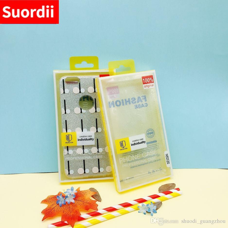 Luxo caixa de pacote de embalagem de pvc transparente para o telefone móvel case para iphone 6 7 8 4.7 polegada para iphone 6 7 8 plus 5.5inch shell phone case