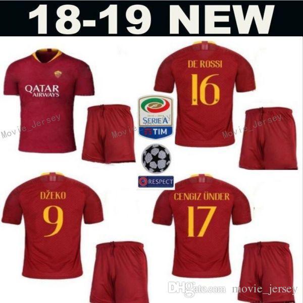 Compre 2018 2019 FC AS Roma Camisa De Futebol Dos Homens Da Série A 44  Kostas Manolas 92 Stephan El Shaarawy 27 Javier Pastore Kits De Camisa De  Futebol De ... 1461bf5fab2f4