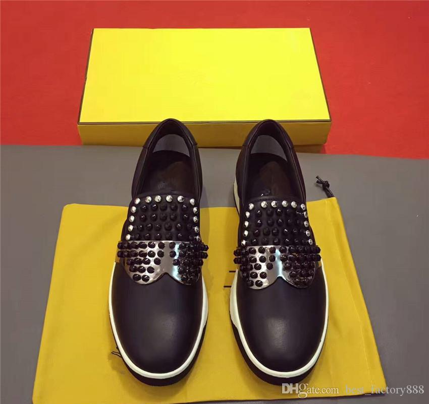 618c08bfc79 Cheap 2017 New Brand Designer Autograph Sunglasses Eye Fashion Trend  Novelty Casual Men Shoes High-end Custom Cowhide Rivet Low Tlat Casual Shoes