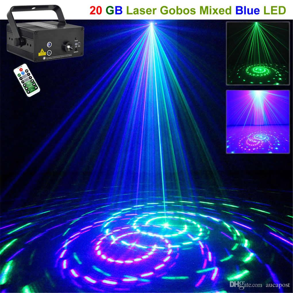 Mini Proiettore Laser Effetto Luci.Acquista Aucd Mini 20 Big Gb Green Blue Proiettore Laser Luci 3w Blu
