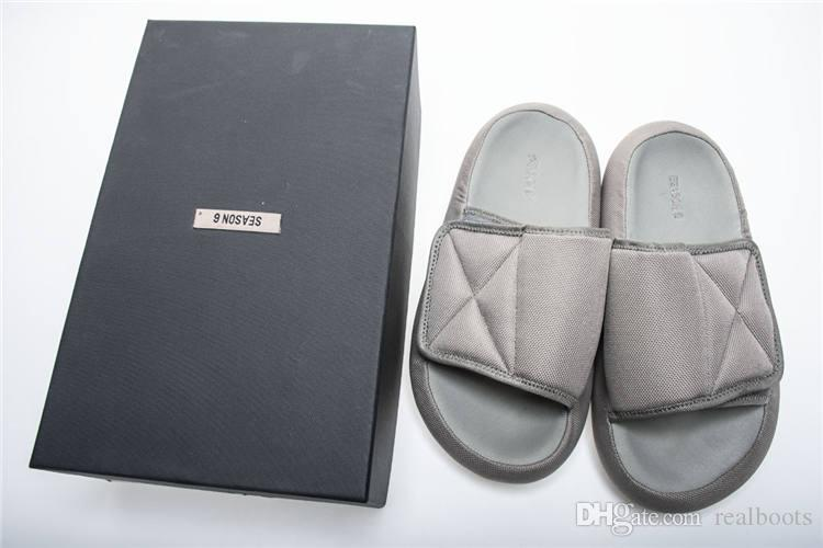 4eec3892038a6 Ye S Season 6 Slides Graphite Flatform Slippers Burgundy Grey Men S Women  Sandals Nylon Uppers Moulded Footbed Rubber Outsoles Online Store Western  Boots ...