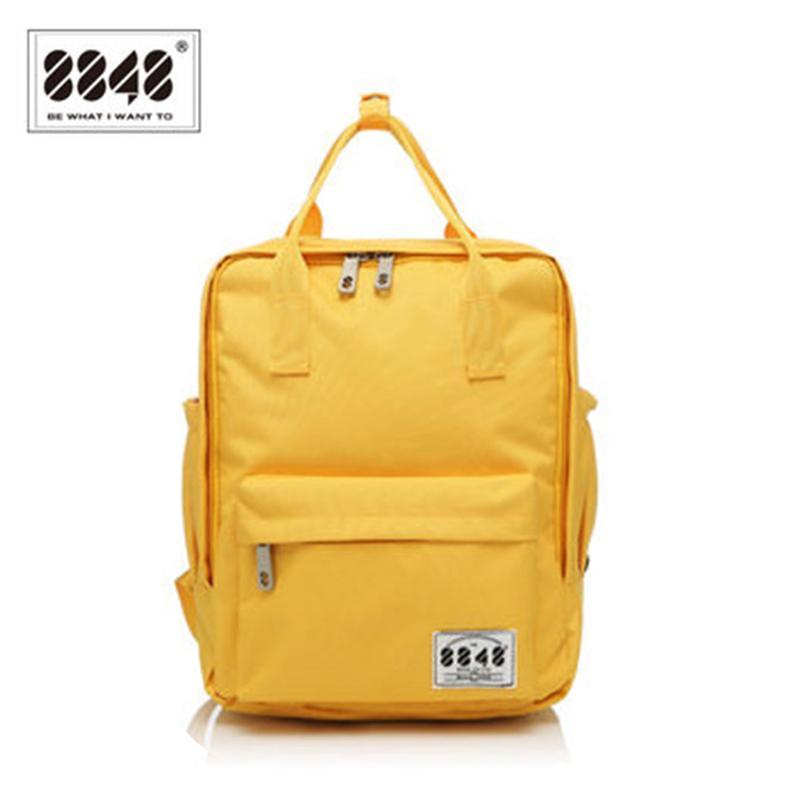6d998a4351 8848 Brand 100% Polyester Yellow School Bag Backpacks For Teenage Girls  Small Knapsack Mochila Escolar Lona Infantil S15008 2 Y18100704 Backpacks  For Back ...