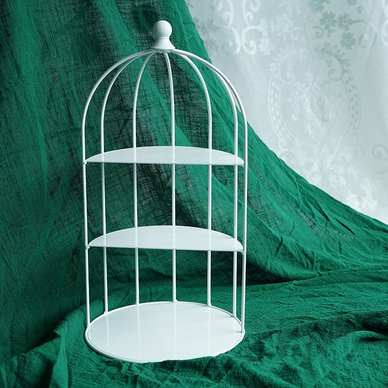 Satın Al Tatlı Masa Yaratıcı Dekorasyon Kuş Kafesi Kek Raf Ferforje
