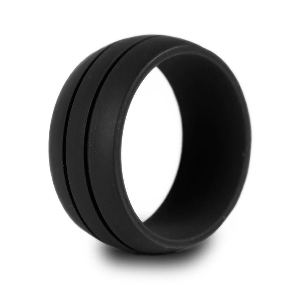 New Unisex Sport Wedding Ring Gift Rubber Silicone Band Gym Oval