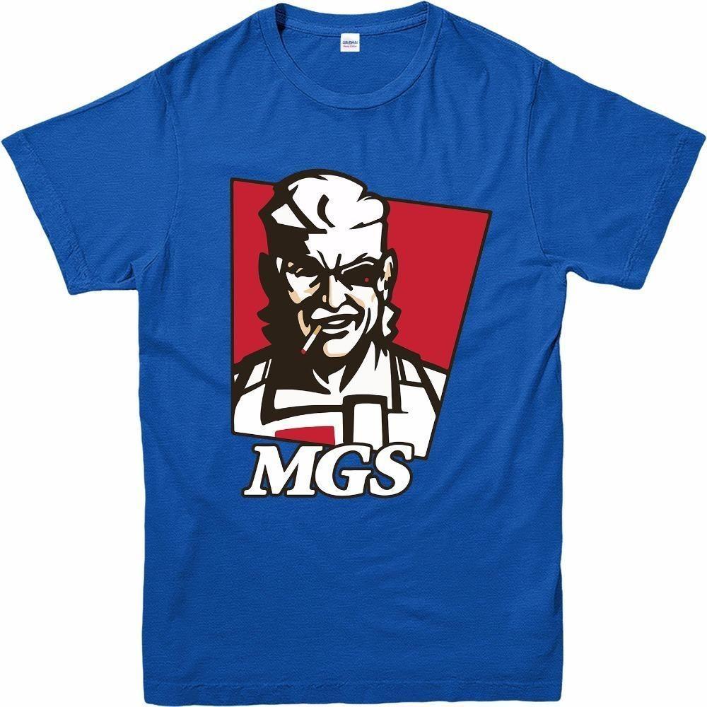 dadbe71aa82f0 Compre Camiseta Metal Gear Solid Camiseta Snake Kfc Spoof Camiseta  Inspirada Top Design De Verano Casual A  11.87 Del Liguo0026