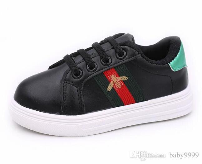 177bf08a3645e9 Acheter Nouveau Designer Rose Or Argent GUCCI Eur26 35 Rivets Enfants  Sneaker Haute Qualité Enfants Chaussures Filles Garçons Chaussures.