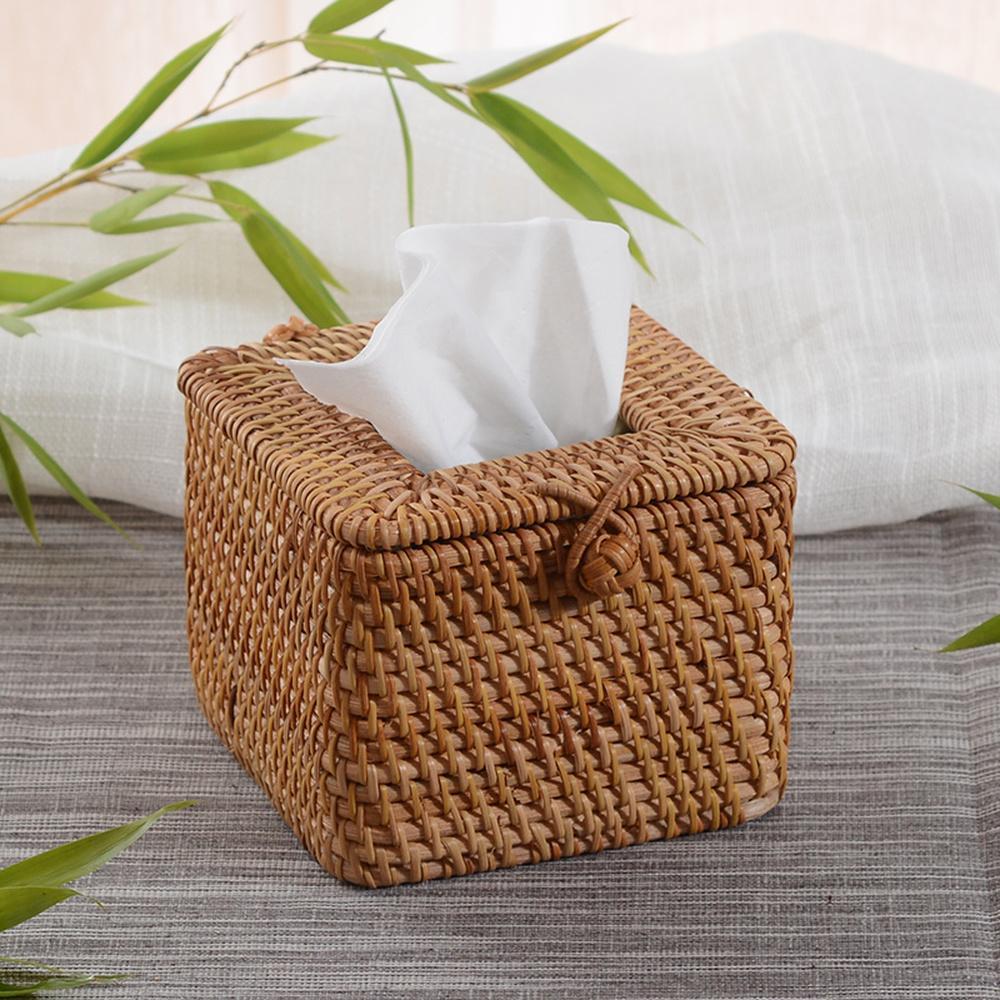 Grosshandel Europaische Tissue Box Rattan Wohnzimmer Couchtisch