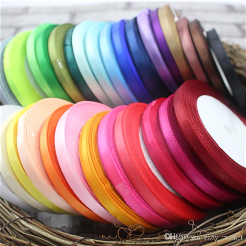 6 MM 250 Meters Silk Length Meter Beautiful Satin Ribbon Wedding Invitation Card Party Decoration Scrapbooking Wrap Supplies Riba