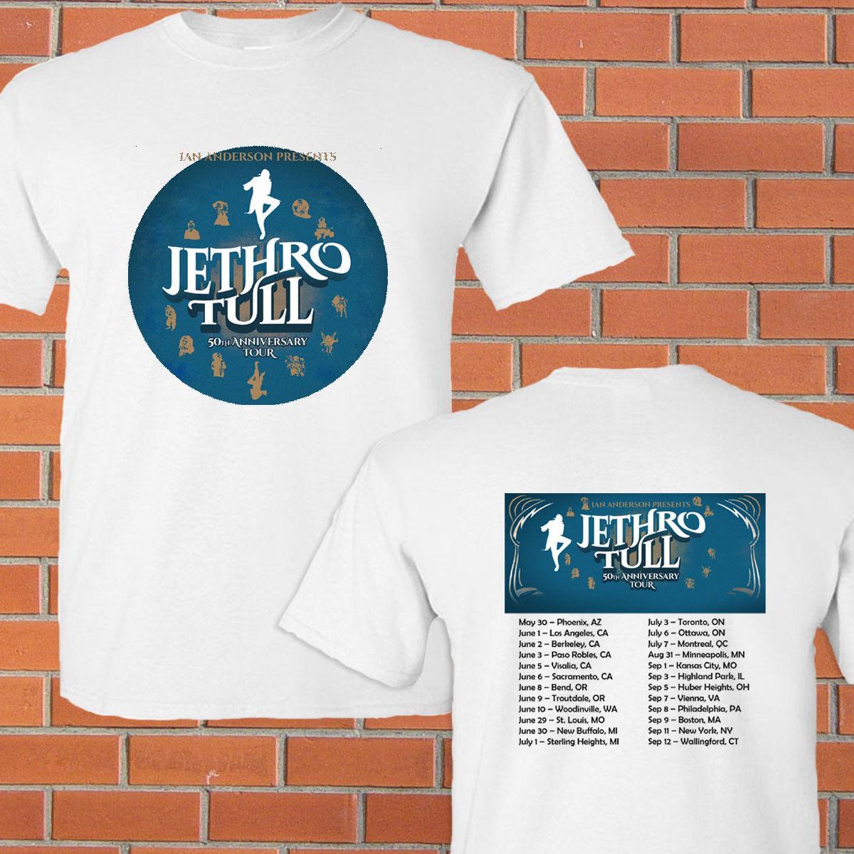Jethro Tull 50th Anniversary North American Tour 2018 White Tee