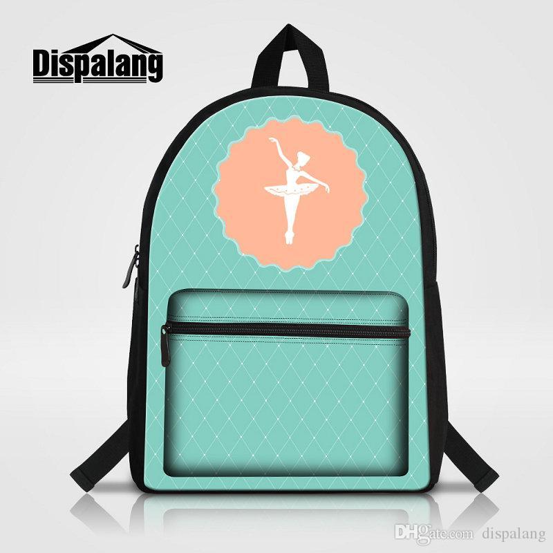 96dc0b7ca381 Ballet Girl Printing School Backpack For Teenage Girls Lovely Gifts  Bookbags Women Stylish Travel Shoulder Bags Rugtas Child Canvas Mochila  Laptop Backpack ...