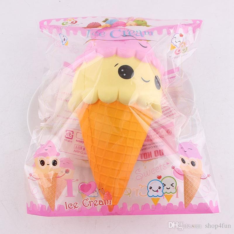 23 cm jumbo squishy gelato cono sorriso squishies giocattolo grande profumo lento aumento cibo gratis dhl sts227