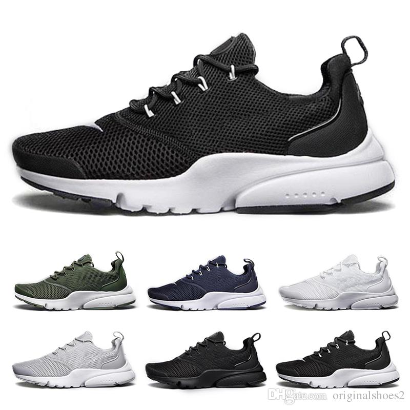 brand new 26fd0 92157 Acheter Air Presto Chaussures De Course Pour Hommes Femmes Fly Line Ultra  Olympique Prestos Sports Sneakers Blanc Noir Baskets Chaussures Taille Max  36 46 ...