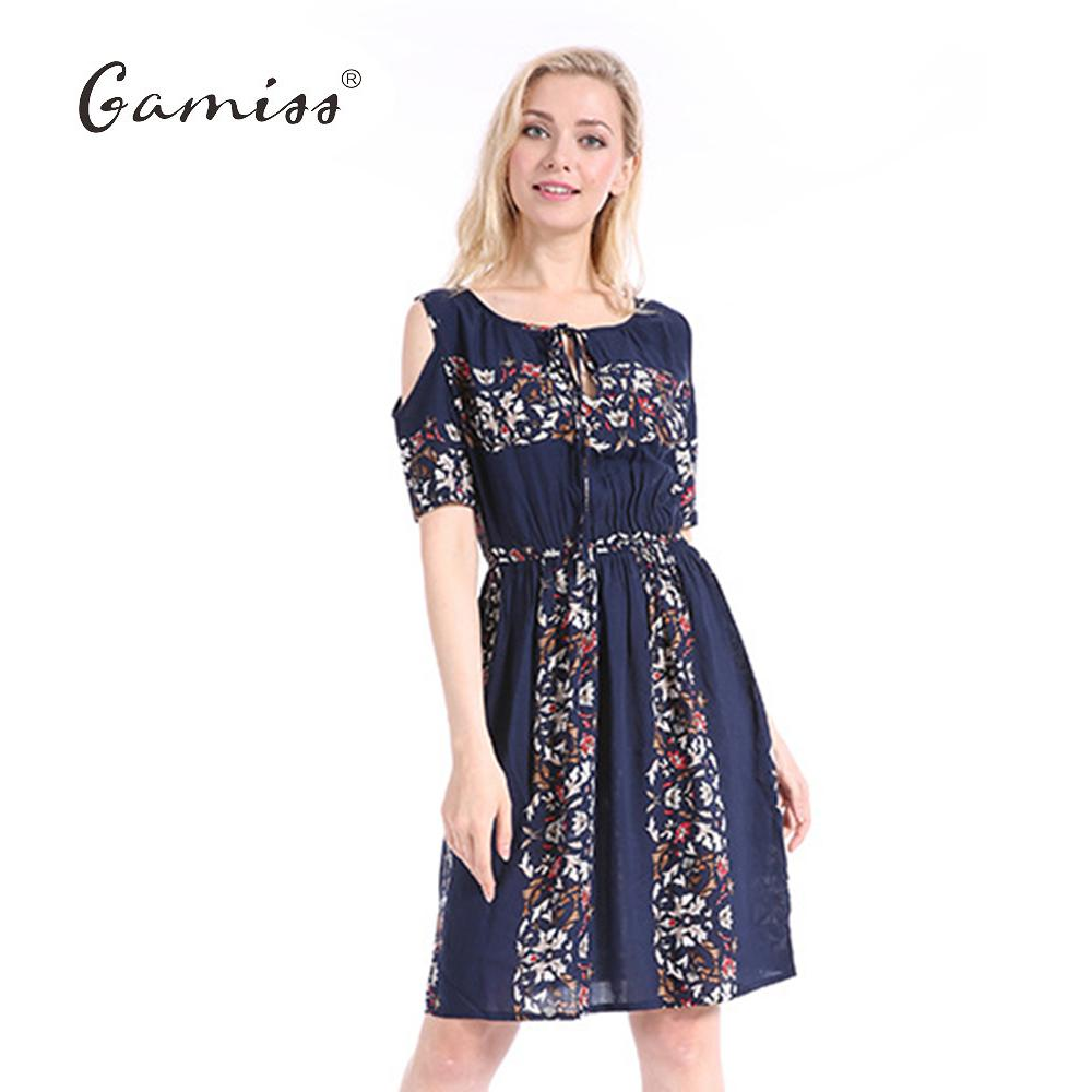 Gamiss 2017 5XL Summer Plus Size Dress Print Dress Series Women Cotton Plus  Size Strapless High Waist Short Sleeve Ladies Dress D1891701 Casual Dresses  Cute ... b83fccacafcc
