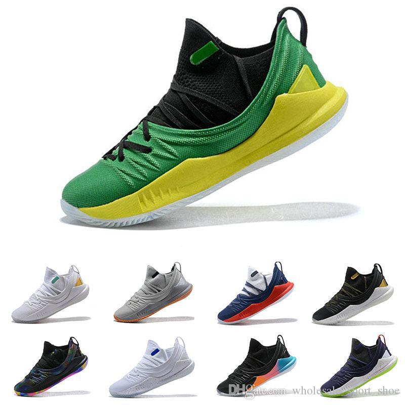 36dd19295f4 Acheter Nouveau Pas Cher Stephen Curry 5 Chaussures De Basket Ball Stephen  Mens Curry 5 Or Championnat Mvp Finals Sport Formation Sneakers Run  Chaussures ...