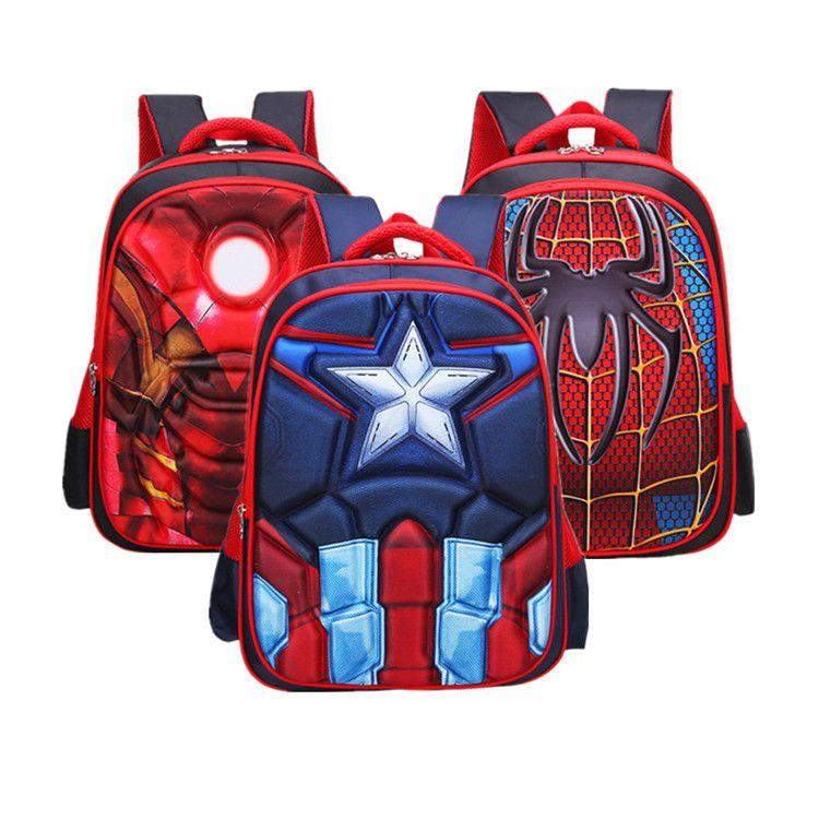 b8333dda09 Children Superhero Backpacks Shoulder Bag 3 Style Boys Schoolbag Cartoon  Bags Spider Man Captain America B0222 Jansport Toddler Backpack Backpacks  And ...