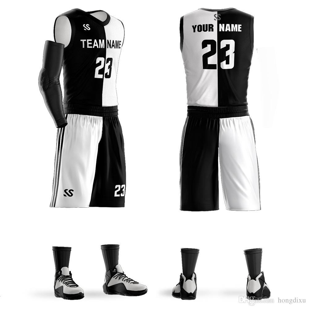 2c28acaa17a8 2019 2018 Men S Custom Basketball Jerseys Sets Any Name Any Number DIY Team Custom  Basketball Sets