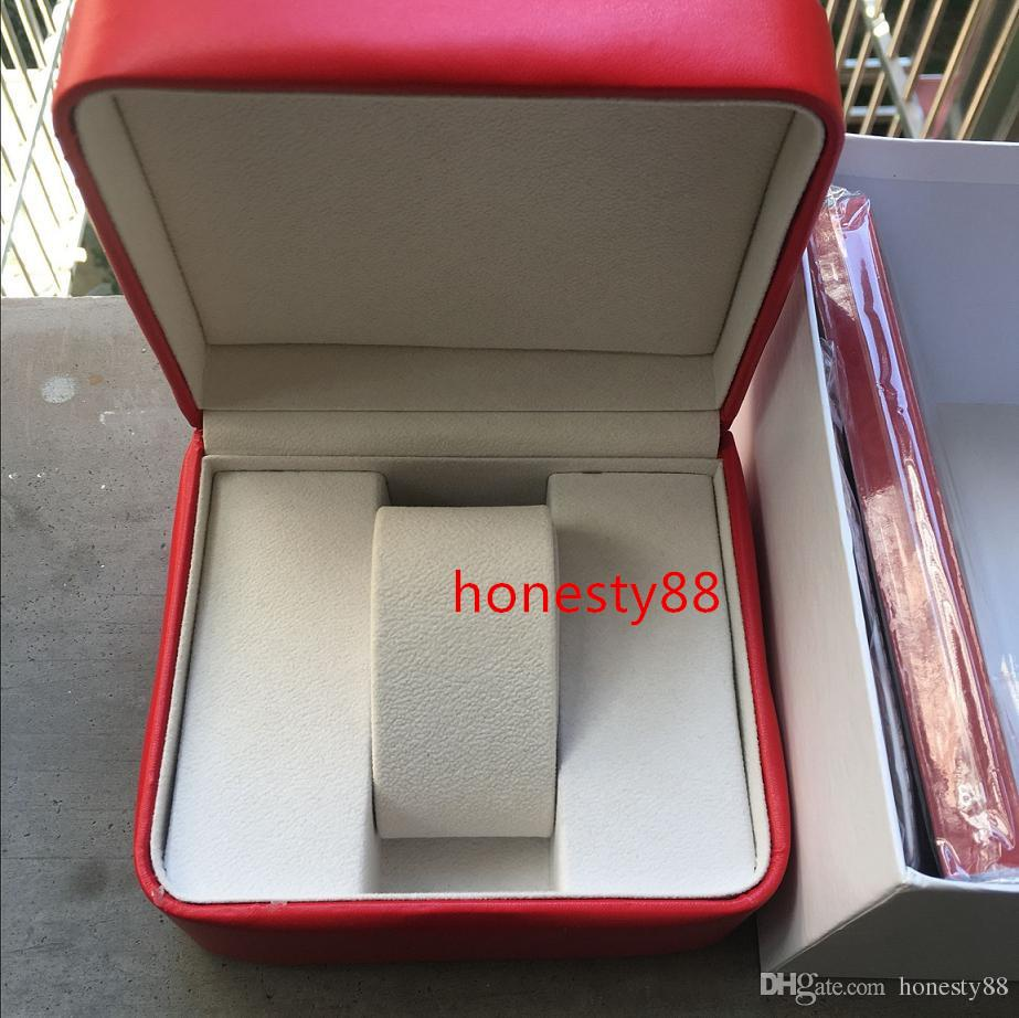 Luxury New Square Red For Omega Box Watch Booklet Card Tags And