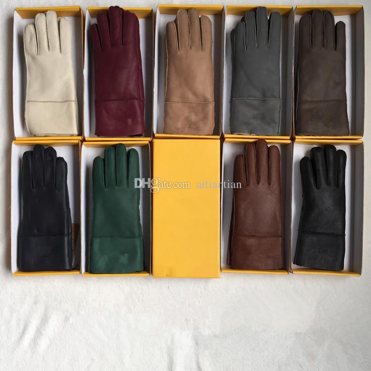 Frete Grátis - Alta Qualidade Senhoras Moda Casual Luvas De Couro Luvas Térmicas Luvas de lã das mulheres em uma variedade de cores