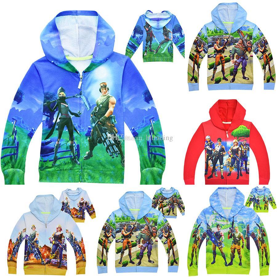 0a8cb4257271 Baby Boys Fort Print Coats 2018 Autumn Kids Hoodies Cardigan Zipper ...