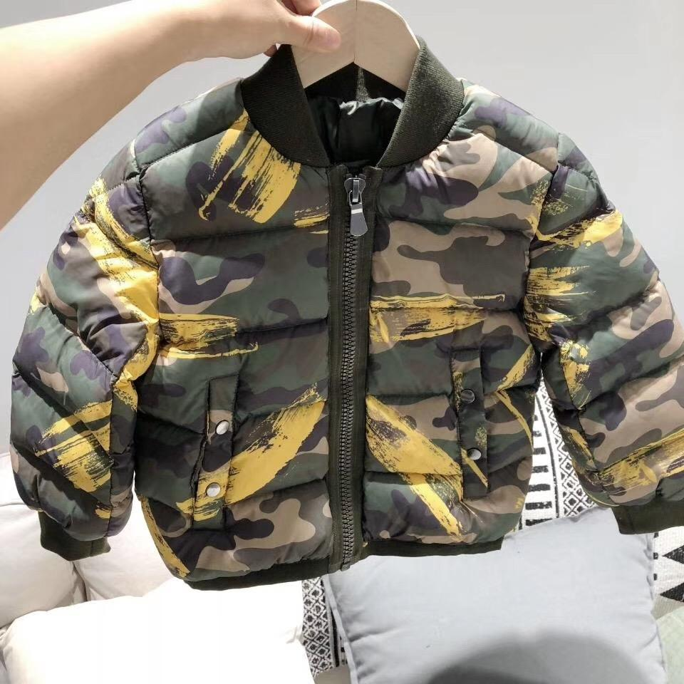1ea62f4cb Childrens Winter Jackets Camouflage Printed Short Down Jacket 90 ...