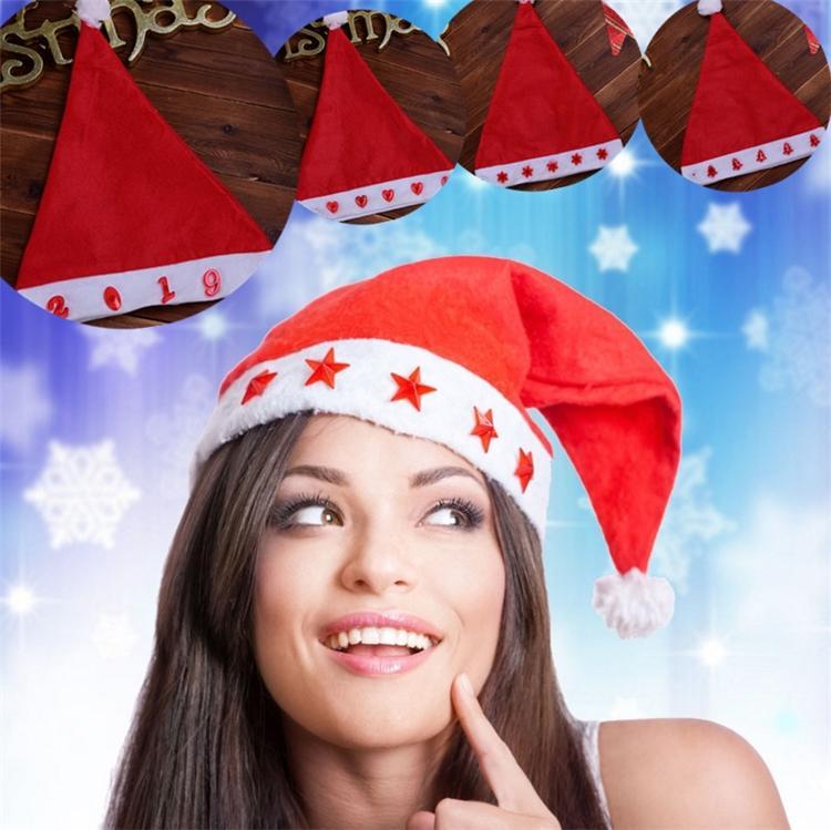 be2ab77cd822b New Thick Ultra Soft Glowing Christmas Hats Adult Xmas Hat 29 39 Cm Cute  Childrens Santa Cap Christmas Decorations I396. Xmas Decorations Cheap Xmas  ...