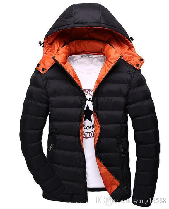 c04d0eaa69a 2019 Best Selling 2018 Winter Jackets Brand Down Parka Thick Warm Padded  Hooded Top Quality Solid Quilted Jacket Male Wadded Zipper Coat 87 From ...