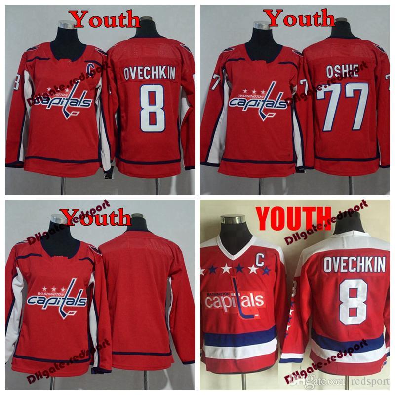 b18507817 Youth Washington Capitals 8 Alex Ovechkin 77 TJ Oshie Hockey Jerseys ...