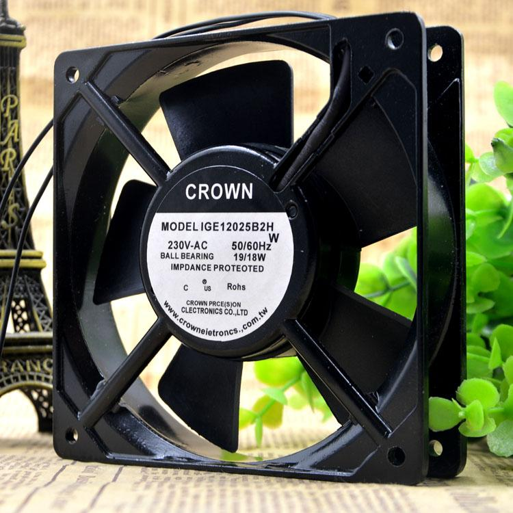 For original brand new CROWN IGE12025B2H fan 12025 230v 18/19w fan high temperature